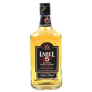 Label 5 Classis Black Blended Scotch Whisky 0,50l